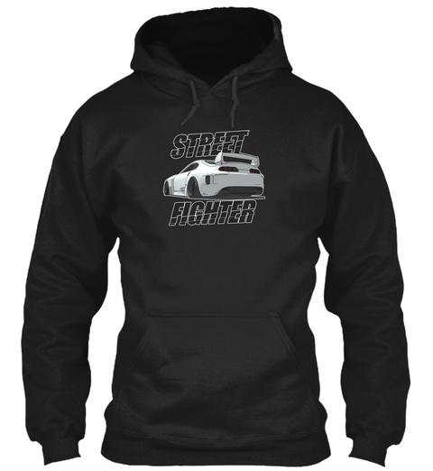 Street Fighter Black T-Shirt Front