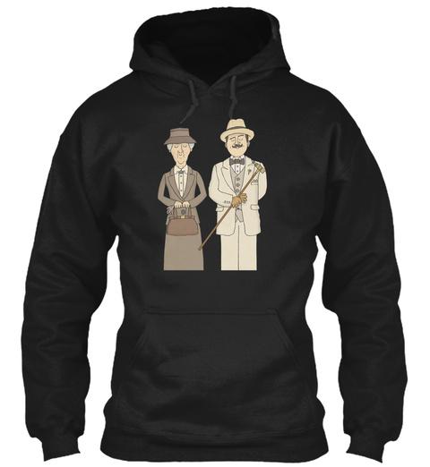 Marple Und Poirot Black T-Shirt Front