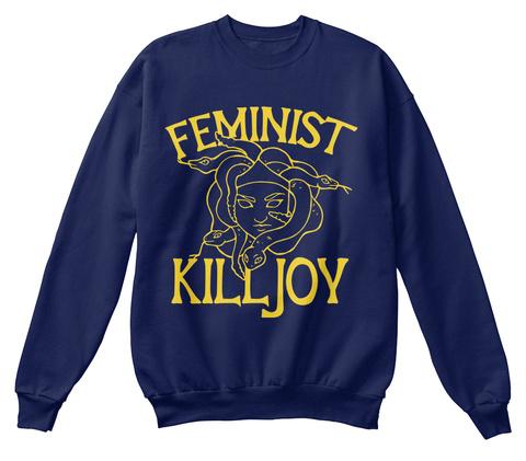 Feminist Killjoy Medusa Feminism Tee Navy  T-Shirt Front