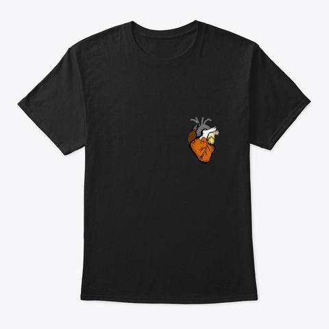 Gay Bear Pride Heart Lgbt Retro Gift Black T-Shirt Front