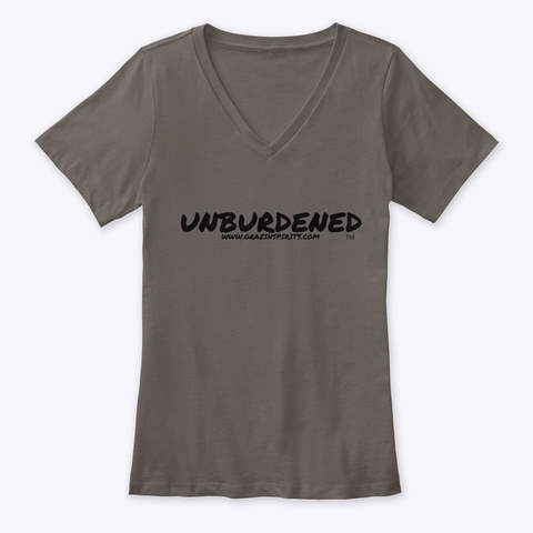 Womens Unburdened T Shirt Asphalt T-Shirt Front