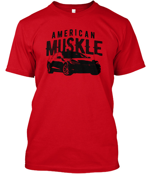 American Muskle Red T-Shirt Front