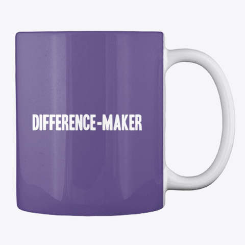 #52 Devotionals I Am A Difference Maker  Purple T-Shirt Back