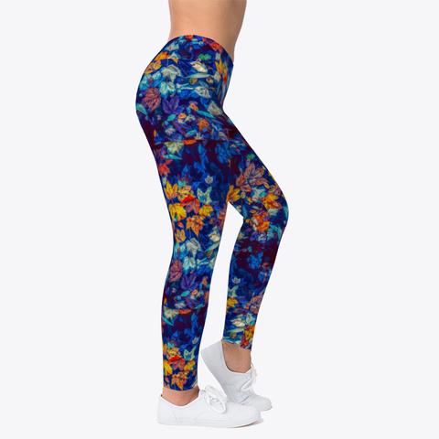 Luxury Floral Leggings Standard T-Shirt Right