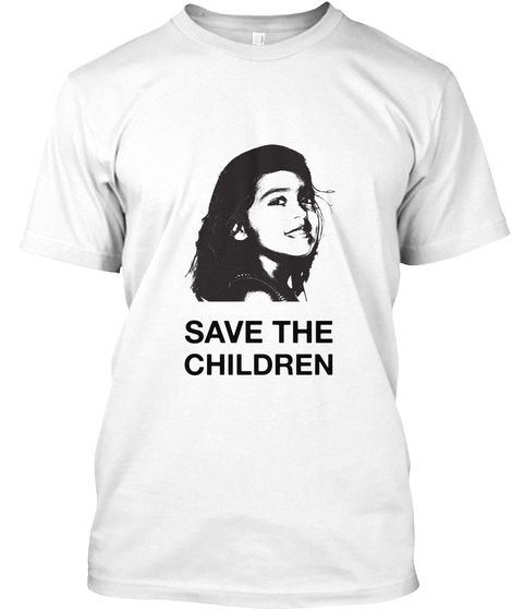 Save The Children White Kaos Front