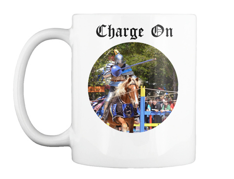 Charge On White Mug Front