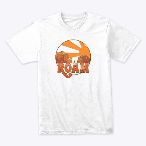 Retro Roam Sedona White T-Shirt Front