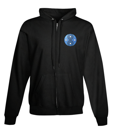 (Us) Space Laser Zip Up Black T-Shirt Front