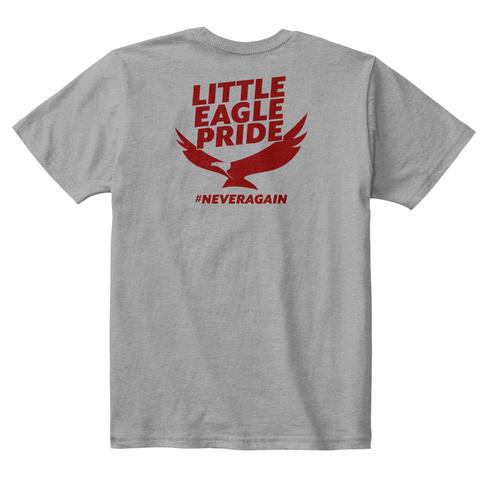 Little Eagle Pride #Neveragain Light Heather Grey  T-Shirt Back