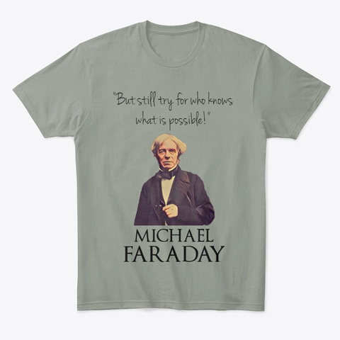Faraday Grey T-Shirt Front