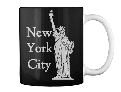 New York City Black T-Shirt Back