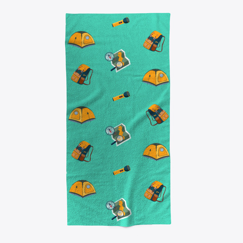 Camping Towel Aqua T-Shirt Front
