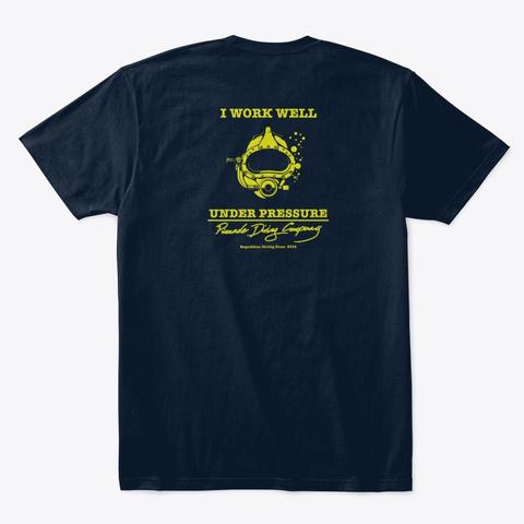 Pdc Work Well Men's Shirt New Navy T-Shirt Back