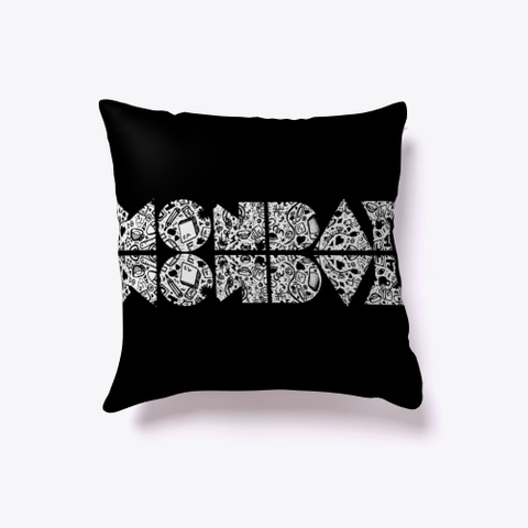 Monday, Artistic Cool Design  Black T-Shirt Front