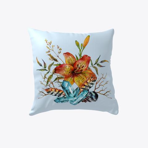 Tiger Lily Bouquet   Pillow Pale Blue T-Shirt Back