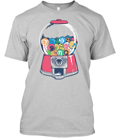 Linux Distroball Machine (Us) Light Steel T-Shirt Front