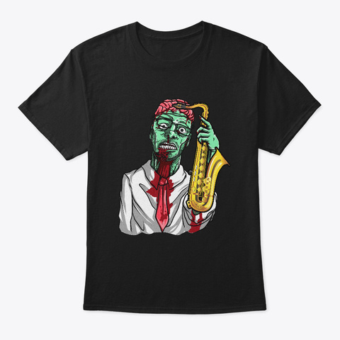 Halloween Marching Band Zombie Black T-Shirt Front