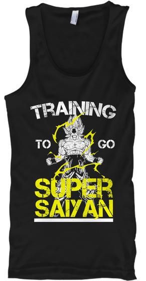Training To Go Super Saiyan  Tank Top Front