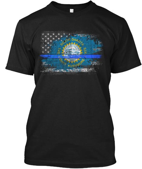 South Dakota Black T-Shirt Front