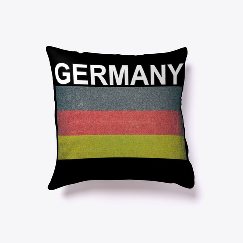 Art Style Germany Flag Pillow Black T-Shirt Front