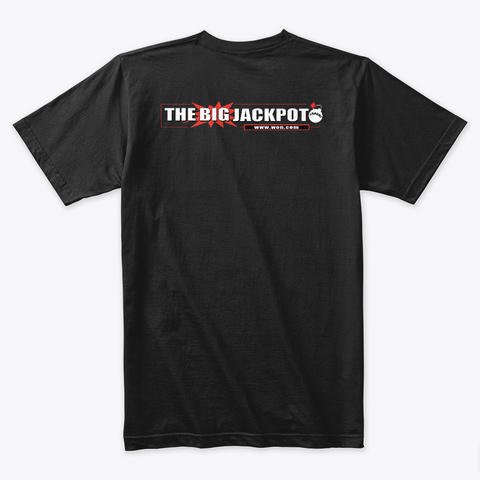 The Big Jackpot   I Love Tbj Black T-Shirt Back