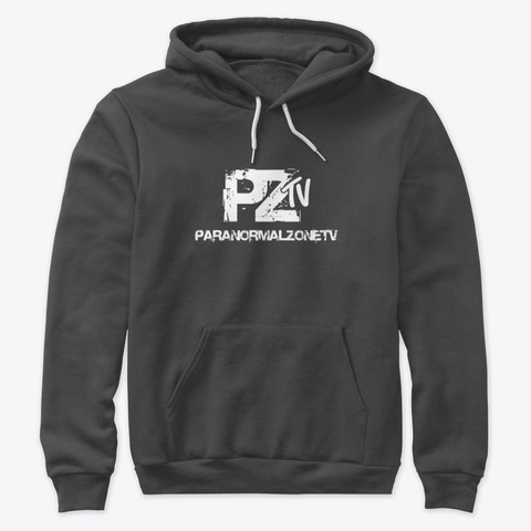 From Paranormal Zone Tv Merch Store Dark Grey Heather Sweatshirt Front