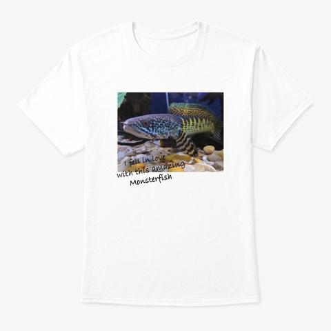 Camiseta Love Monster Fish White T-Shirt Front