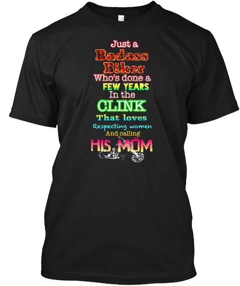 Olink His Mom Black T-Shirt Front
