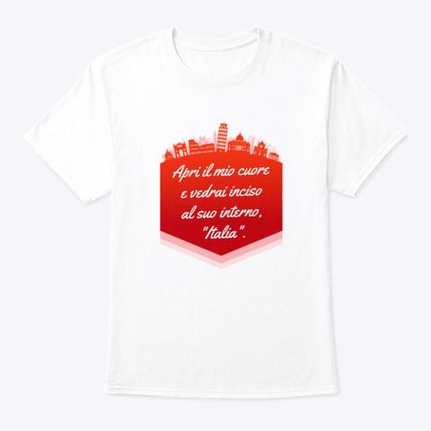 Italia   2 White T-Shirt Front