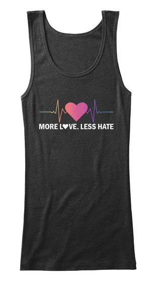 More Love Less Hate Black Camiseta de Tirantes Front