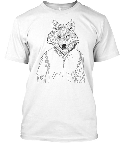 Sweater Wolf White T-Shirt Front