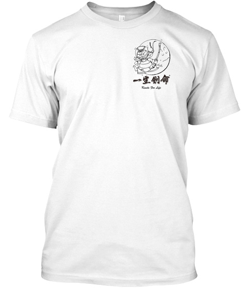 Yay! Kendo Tee (Left Pkt, Light Color) White T-Shirt Front