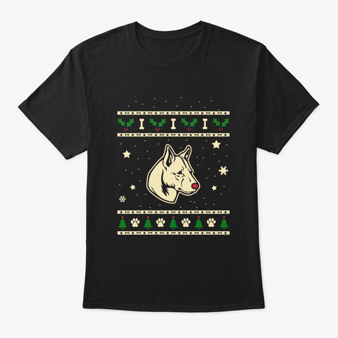 Christmas Canaan Dog Gift Black T-Shirt Front