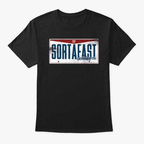 "Sortafast ""Ohio"" Design Black T-Shirt Front"