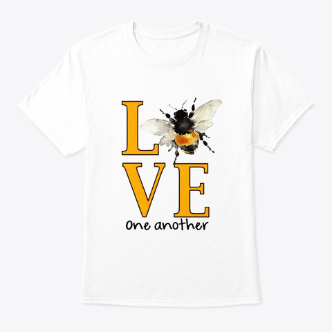 Flower Children Love One Another Costume White T-Shirt Front
