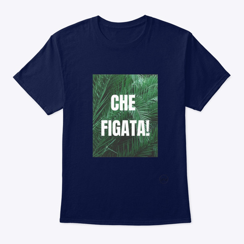 Che Figata!   Learn Amo Collection Navy T-Shirt Front