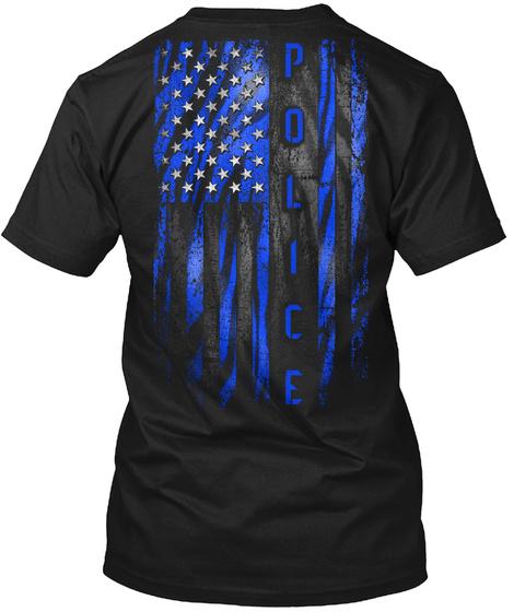 Police Black T-Shirt Back