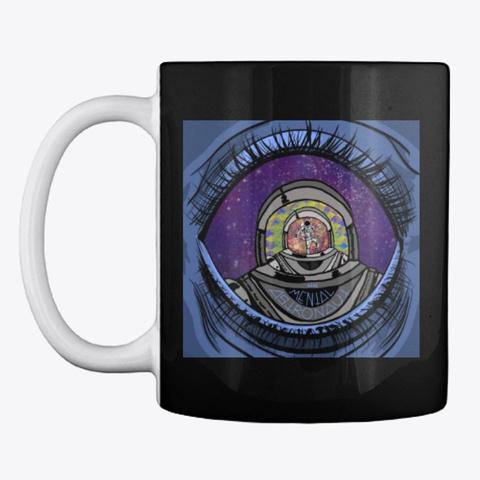 The Mental Astronaut Season 1 Cover Art Black T-Shirt Front