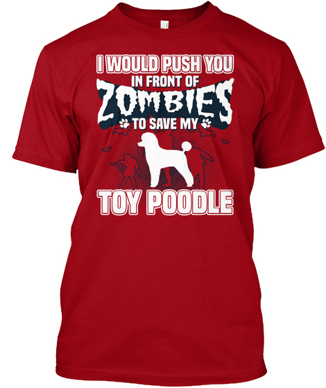 Toy Poodle Deep Red T-Shirt Front