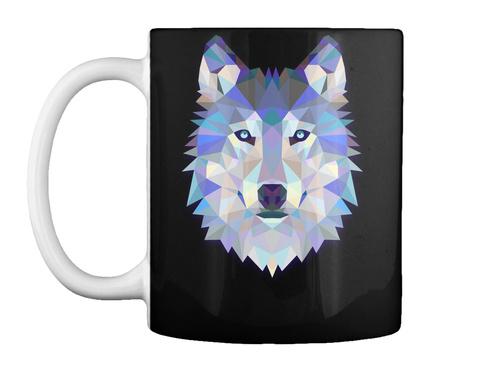 Wolf Mug Black T-Shirt Front