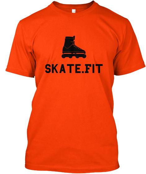 Skate.Fit Orange T-Shirt Front