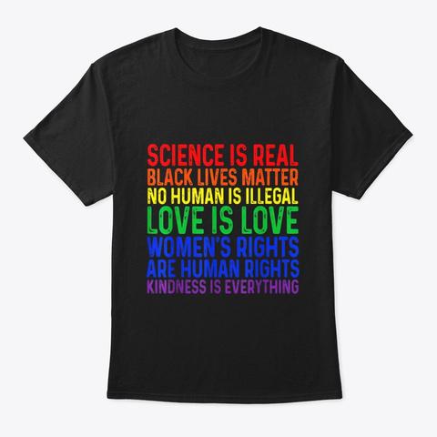 Science Is Real Black Lives Matter Women Black T-Shirt Front