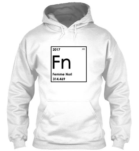Elemental Hoodie White Sweatshirt Front