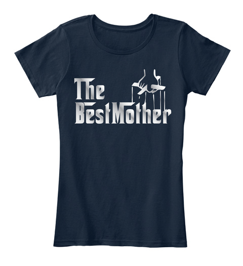 The Best Mother New Navy T-Shirt Front