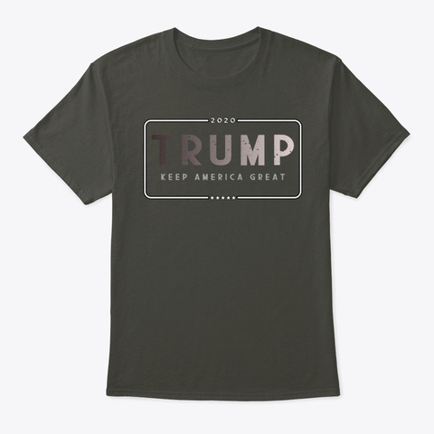 President Trump 2020   Election Day Smoke Gray T-Shirt Front