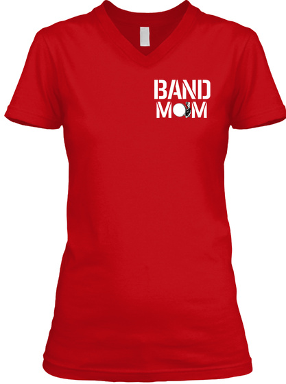 Band Mom Red T-Shirt Front