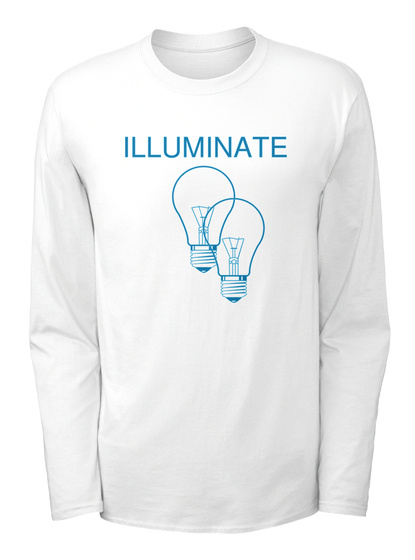 84b049864 from SHAWN MENDES MERCH. Illuminate White Long Sleeve T-Shirt Front