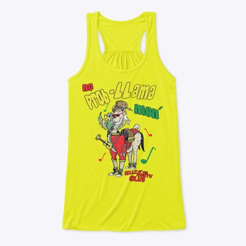 No Prob L Lama Mon Neon Yellow T-Shirt Front