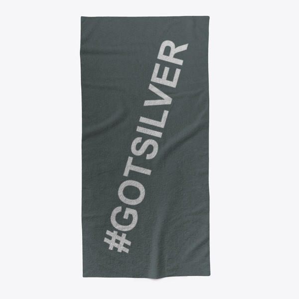 Got Silver Beach Towel