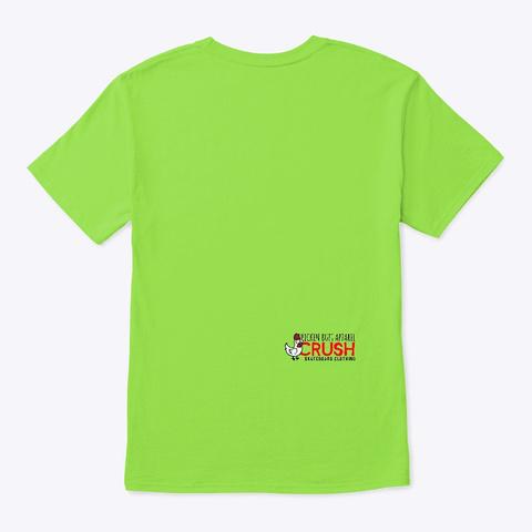 Skeleton Skater Moving Forward  Lime T-Shirt Back